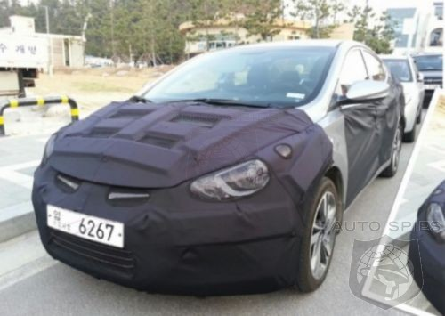 Spyshots of the 2014 Hyundai Elantra (facelift) emerge from South Korea