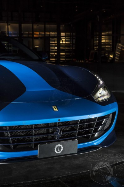 This one-off Ferrari GTC4Lusso by Lapo Elkann is a vision in blue