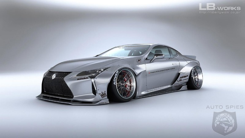 Liberty Walk outfitted the Lexus LC 500 in a flashy body kit