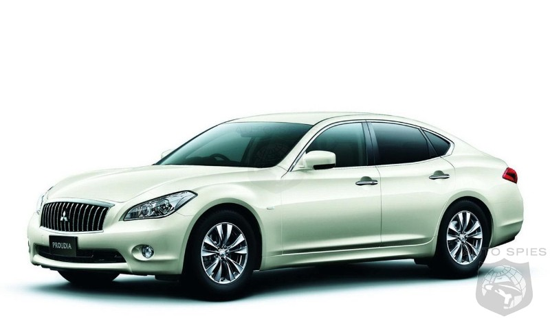 Mitsubishi Proudia is a rebadged Infiniti M! Anyone interested?